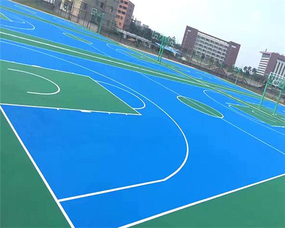 篮球场橡胶场
