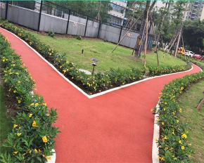 小区绿化橡胶跑道